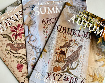 Loose Feathers Summer, Autumn, and Winter (Reprint) Full Set of Three by Blackbird Designs