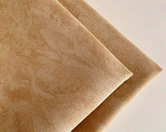 Linda 27 Count Vintage Country Mocha Fat Quarter (Printed) by Zweigart
