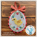 DIGITAL PDF Pattern: Farm Fresh Eggs Cross Stitch Digital Download by Luminous Fiber Arts