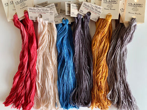 Liberty Quaker Over-Dyed Floss Pack (10 skeins), Optional Additional Skein