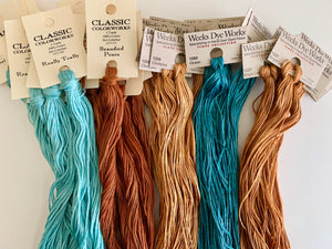 Playful Cats Over-Dyed Floss Pack (6 skeins), Optional Additional Skeins
