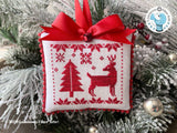 DIGITAL PDF Pattern: Noël Rouge Cross Stitch by Luminous Fiber Arts