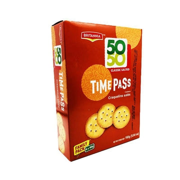 Britannia Timepass Classic Salted Family Pack 160g-14 Bakery, Biscuits & Breads-Megacart Foods
