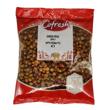 Co-Fresh Green Peas spicy with Peanuts 350g-13 Indian Snacks-Megacart Foods