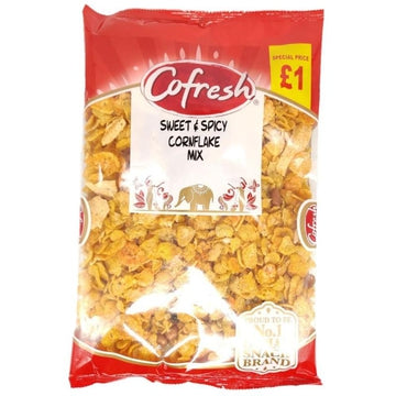 Co-Fresh Sweet & Spicy Cornflake Mix 380g-13 Indian Snacks-Megacart Foods