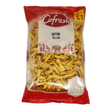Co-Fresh Yellow Gathia 350g-13 Indian Snacks-Megacart Foods
