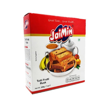 Jaimin Tooty Fruity Rusk 200g-14 Bakery, Biscuits & Breads-Megacart Foods