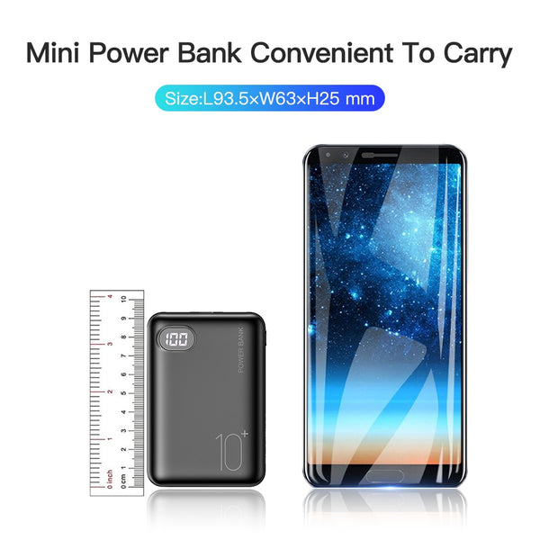 RAXFLY Mini Power Bank 10000 mAh
