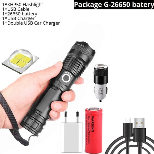 Flashlight 5 Modes usb