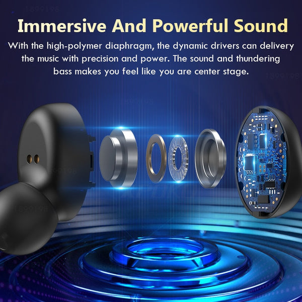 Wireless Headphones Microphone Sport Waterproof