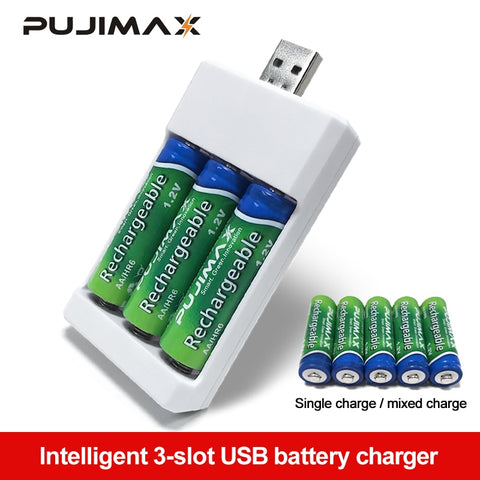 Battery Charger PUJIMAX For Universal AA/AAA rechargeable Batteries