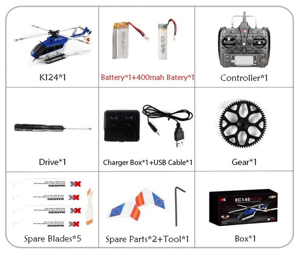 RC Helicopter 2.4G 6CH 3D 6G Mode Brushless Remote Control