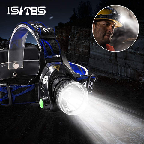 LED Headlamp Super Bright Headlight T6/L2 Outdoors Waterproof USB