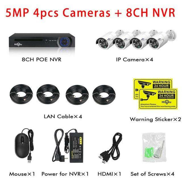 Security Camera System Kit Hiseeu H.265 8CH