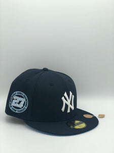 NEW YORK YANKEES x 27 WORLD CHAMPIONSHIPS NEW ERA 59FIFTY (ICY BLUE UV)