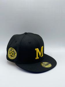 MILWAUKEE BREWERS x 50TH ANNIVERSARY NEW ERA 59FIFTY (ROYAL UV)