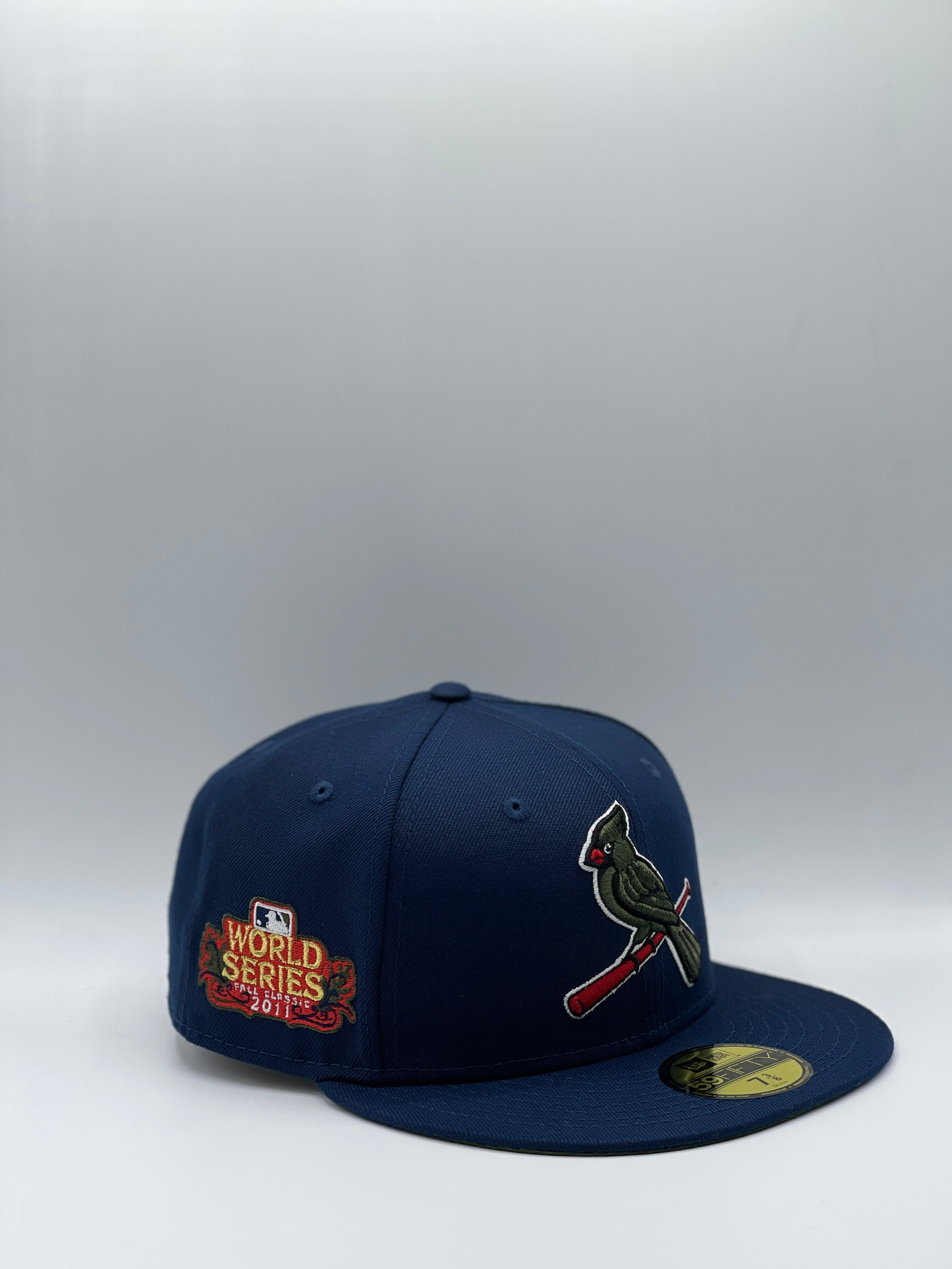 ST. LOUIS CARDINALS x 2011 WS NEW ERA 59FIFTY (OLIVE UV)