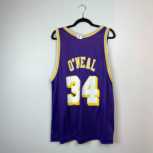 "CHAMPION x LOS ANGELES LAKERS ""SHAQUILLE O'NEAL"" #34 REVERSIBLE JERSEY"