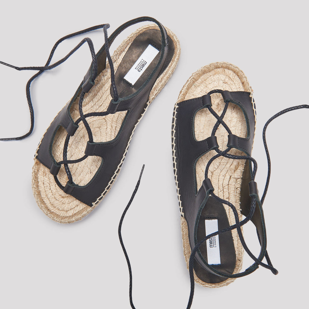 Miista - BEATRICE BLACK SANDALS