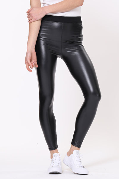 Patti - Faux Leather Leggings