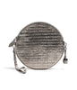 Bell & Fox - Round Crossbody Bag & Wristlet - Pewter Croc