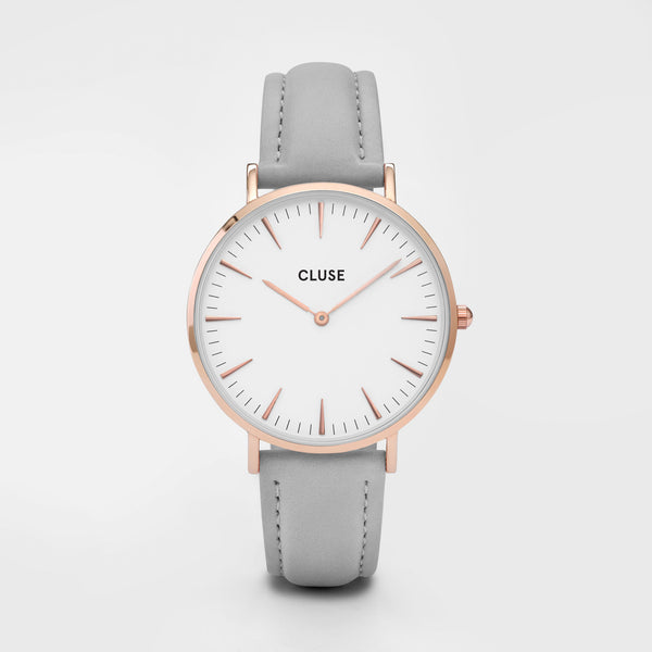 CLUSE WATCH - LA BOHEME - ROSE GOLD WHITE/GREY