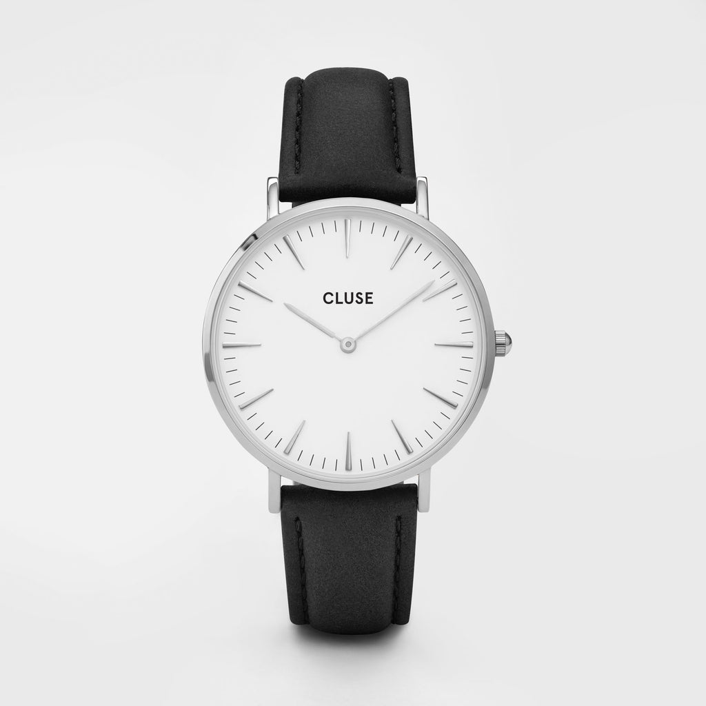 CLUSE WATCH - LA BOHEME - SILVER WHITE/BLACK