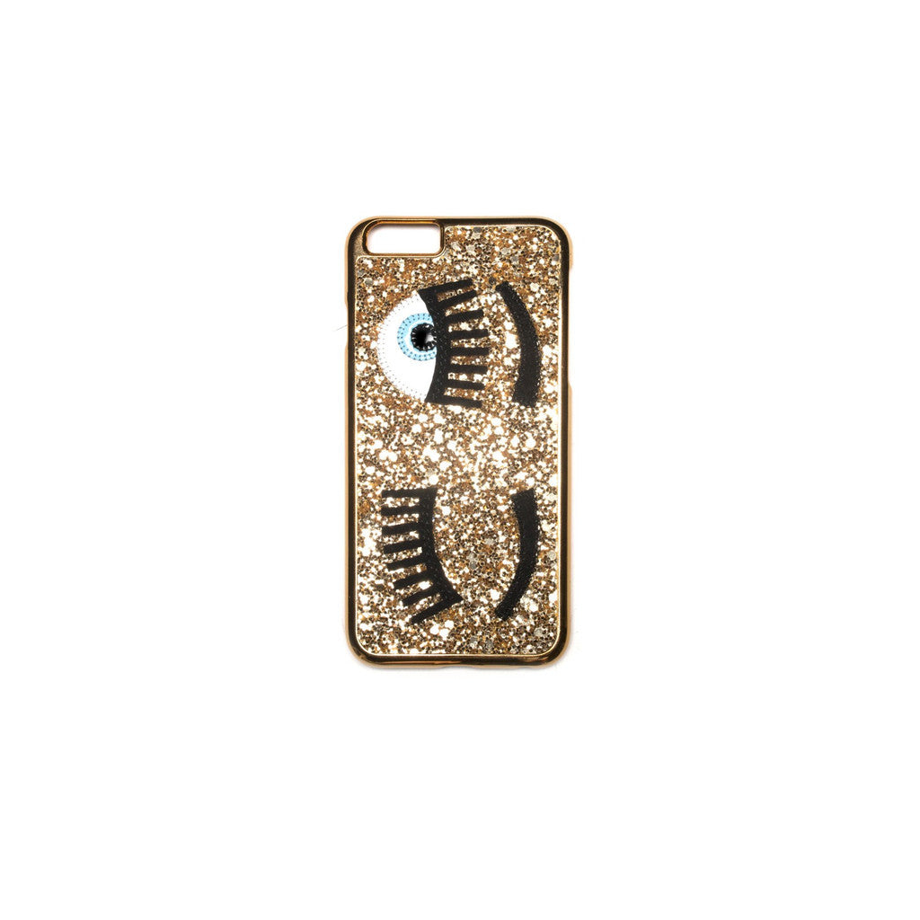 Chiara Ferragni 'Flirting' iPhone Case - Gold