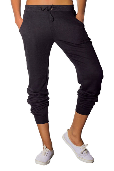 Lena French Terry Joggers in Black