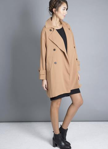One O Eight - Oversized Camel Trench Coat
