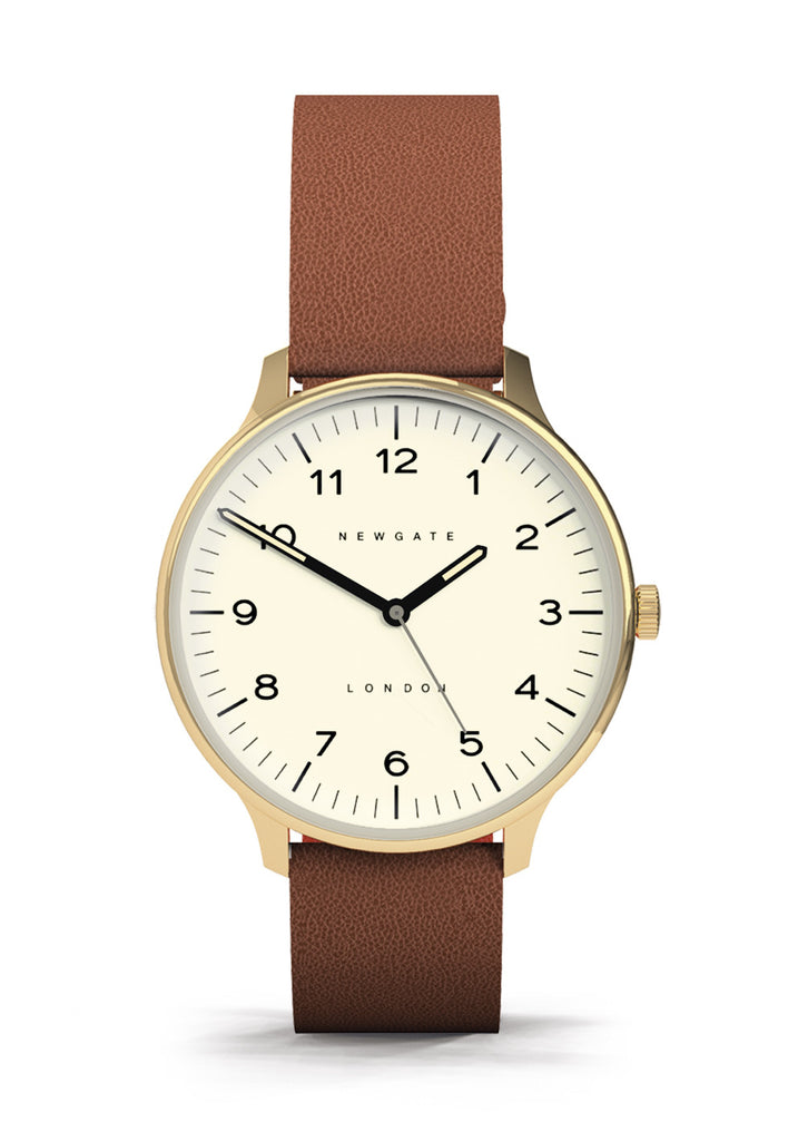 Newgate Watches - The Blip Watch - Cream/Brown