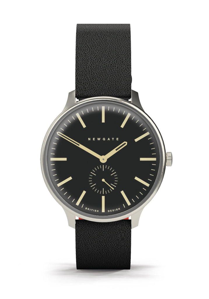 Newgate Watches - The Blip Watch - Reverse Dial - Black Strap