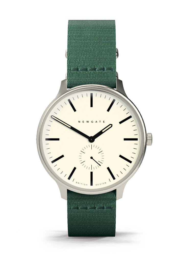 Newgate Watches - The Blip Watch - Green Canvas
