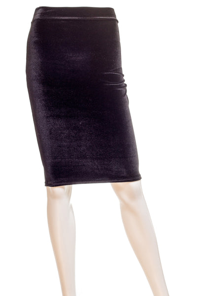 Rosalie Velvet Skirt in Black