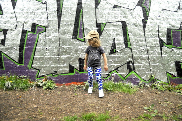 Mini Corey Blue leggings - Kids