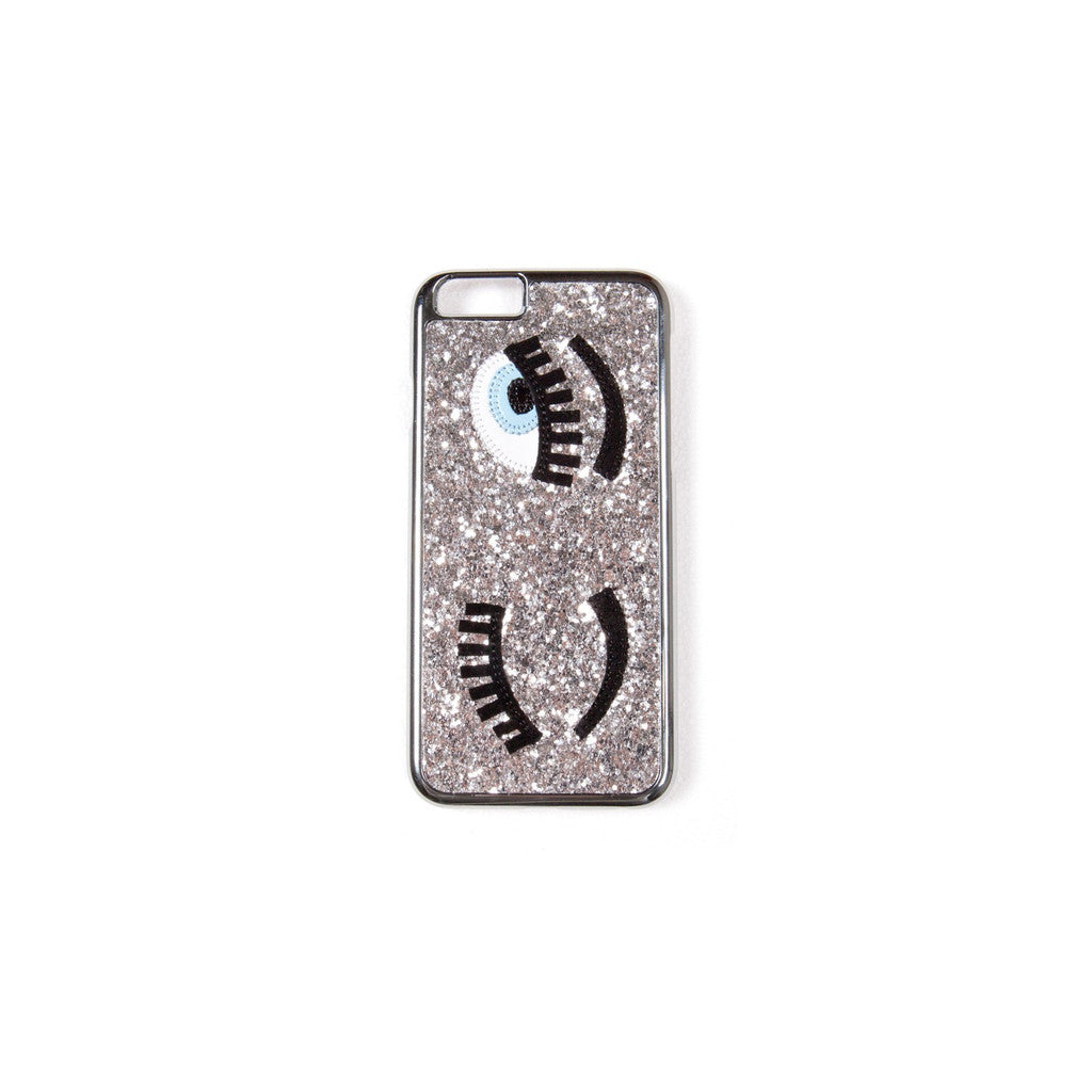Chiara Ferragni 'Flirting' iPhone Case - Silver