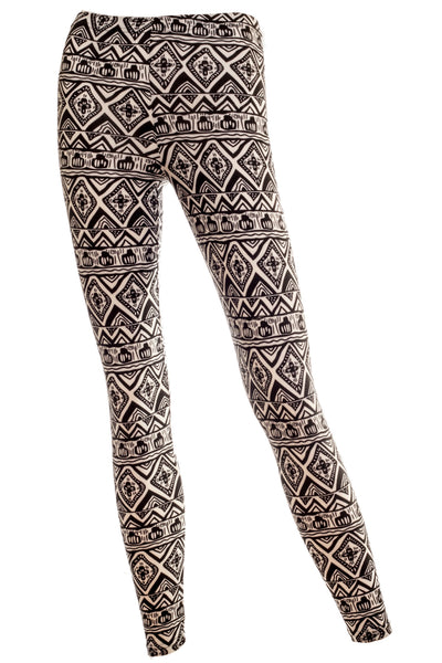 Kayla Brushed Soft Jersey Tribal Print Leggings