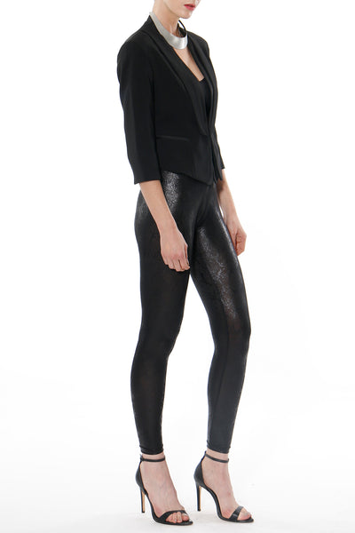 Lana Faux Leather Python Print Leggings