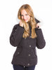 Moose Knuckles - 3/4 Length Ladies Jacket W/Fur Hood (Black/White)