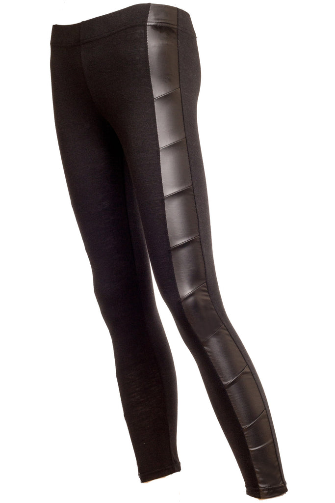 Rita Faux Leather Side Panel Leggings