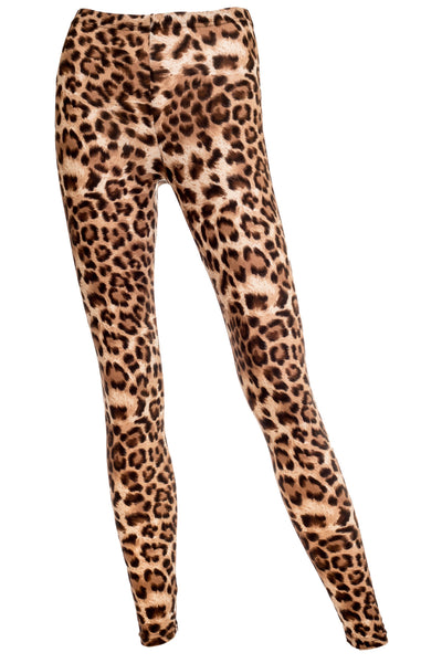 Lea Brushed Soft Jersey Leopard Print Leggings