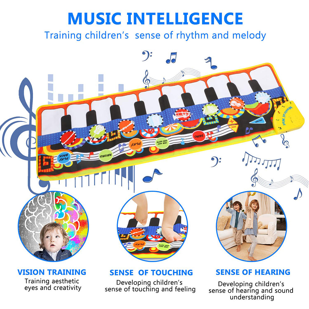 Multicolor 24 Keys Soft Electric Music Piano Mat Pad Baby Kids Early Education