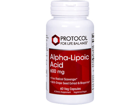 Alpha Lipoic Acid 600mg 60 Ct by Protocol for Life Balance