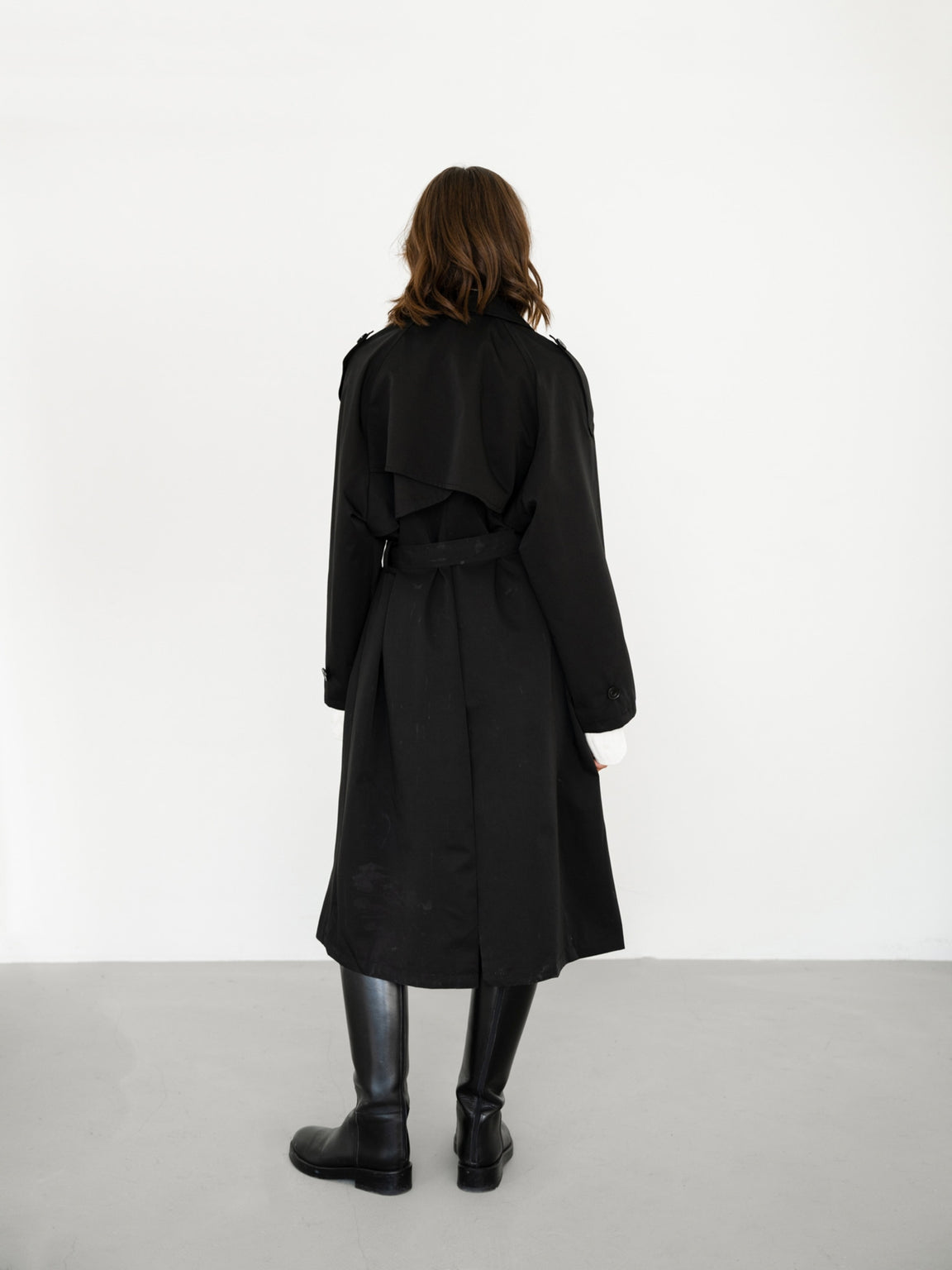 JAMIE - OVERSIZED TRENCHCOAT - BLACK