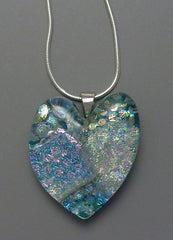 Light Blue Heart Pendant