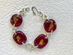 Fused glass beads bracelet