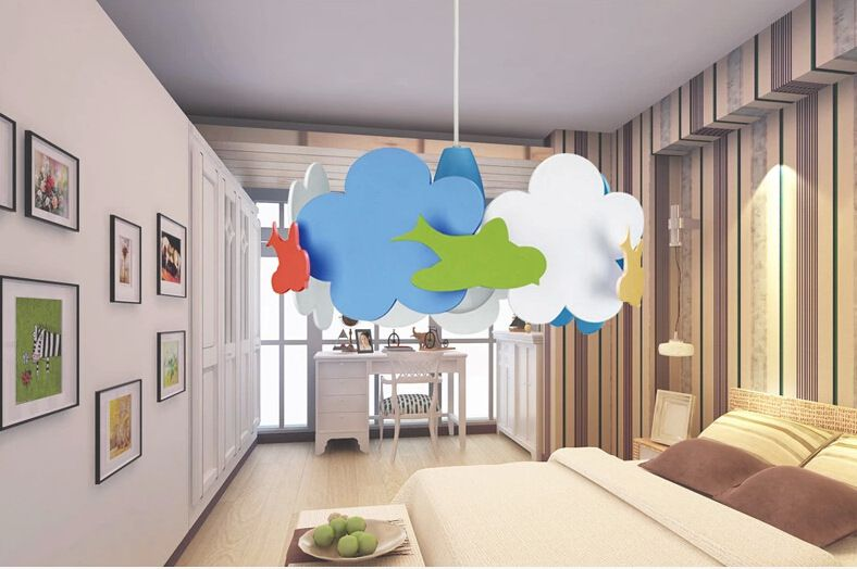 Let's take a look at the installation of children's room lamps