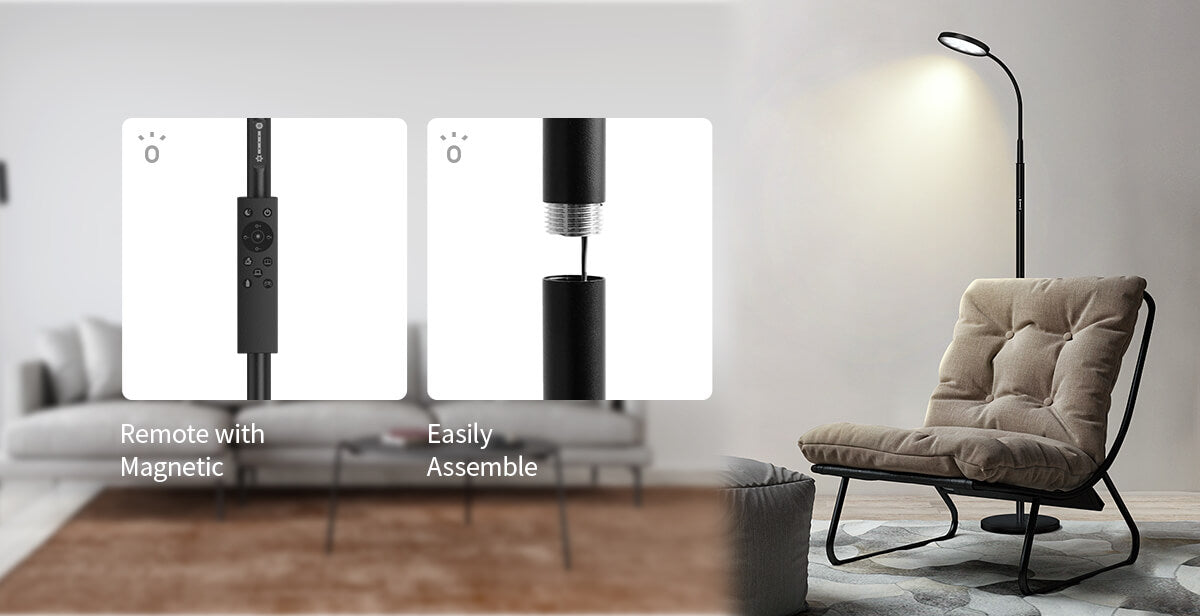led floor lamp magnetic function and iron material