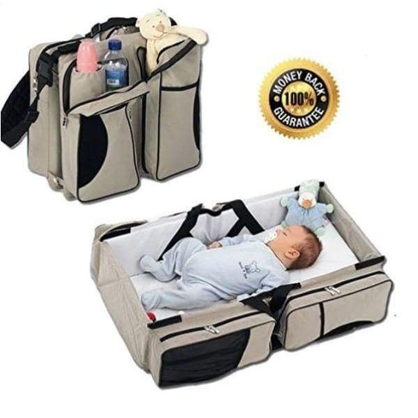 Multi-purpose All-in-One Travel Bassinet Change Station and Diaper Bag - White - baby