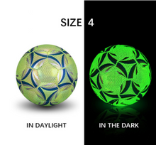 Load image into Gallery viewer, Luminate Soccer Practice Football Glowing Training Ball